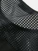 Black Short Sleeve Crew Neck See-through Look Mini Dress
