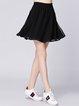 Black Folds Casual Mini Skirt