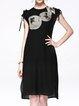 Short Sleeve Vintage Crew Neck Two Piece Midi Dress