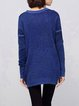 Long Sleeve Casual Crew Neck Plain Knitted Sweater