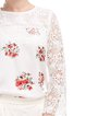 Cotton Sweet 3/4 Sleeve Floral Printed Blouse