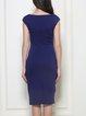 Sleeveless Sheath V Neck Elegant Midi Dress