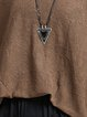 Knitted Asymmetric Solid Casual Polyester Tunic