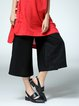 Casual Linen Solid Wide Leg Pant