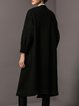Wool blend H-line Casual Long Sleeve Solid Cardigan
