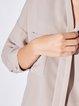 V Neck Simple Solid Pockets Blouse