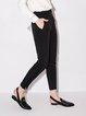 Paneled Stripes Simple Polyester Straight Leg Pant