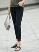 Simple Solid Straight Leg Pants