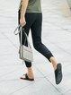 Plus Size Simple Solid Straight Leg Pants