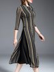 Multicolor Vintage Jacquard Midi Dress