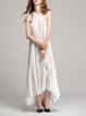 Ruffled Halter Solid Sleeveless Beach Maxi Dress