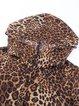 Coffee Casual Hoodie Printed Animal Print Coat