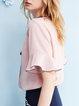 V-Neck Elegant Bell Sleeve Polyester Blouse