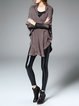 Casual Batwing Asymmetrical Ruffled Cardigan