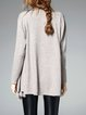 Fringed Long Sleeve Knitted Cardigan