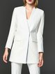 Work Solid Spandex Long Sleeve Blazer