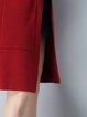Plus Size Pockets Simple Cardigan