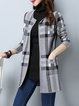 Checkered/Plaid Long Sleeve Cardigan