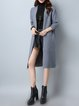 Plus Size Solid Long Sleeve H-line Cardigan