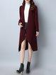 Burgundy Long Sleeve Solid H-line Cardigan