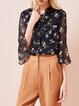 Floral Bell Sleeve Ruffled Girly Blouse