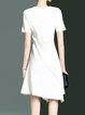 A-line Elegant Short Sleeve Asymmetric Midi Dress