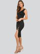 Slit Casual Bandage Sheath Midi Dress