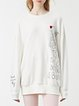 Crew Neck Cotton Printed Casual Long Sleeve Top