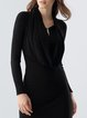 Black Casual Bodycon Wool Blend Mini Dress