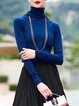 H-line Simple Turtle Neck Long Sleeved Top