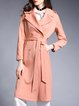 Casual Buttoned H-line Long Sleeve Trench Coat