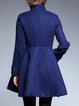 Stand Collar Buttoned Casual Long Sleeve Coat