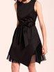 Solid Sleeveless Elegant Midi Dress