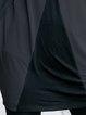 Plus Size Gray Color-block Batwing Cotton-blend Tunic Top