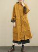 Cotton Long Sleeve Printed Hoodie Linen Outerwear