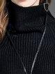 Long Sleeve Solid Turtleneck Sweater