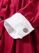 Paneled Shirt Collar  Long Sleeve Midi Dress