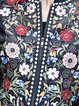 Casual Cotton Long Sleeve Stand Collar Floral-embroidered Coat
