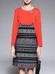 Elegant Printed Dress With Top