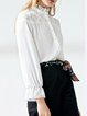 Ruffled Work Bell Sleeve Buttoned Blouse