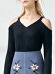 Ribbed Casual Bell Sleeve T-Shirt
