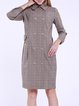 Coffee Pockets 3/4 Sleeve Trench Coat