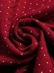 Wine Red Surplice Neck Paneled PU Elegant Midi Dress