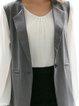 Casual Solid Cotton-blend Vest