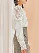Long Sleeve Solid Paneled Girly Blouse
