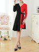 Asymmetrical Work Midi Dress