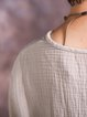 Asymmetrical Cotton Casual Linen Top