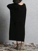 Batwing Knitted Shift Linen Dress