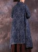 Long Sleeve Casual Floral Polyester Linen Outerwear