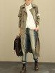 Lapel Cotton-blend Casual Shift Long Sleeve Linen Outerwear